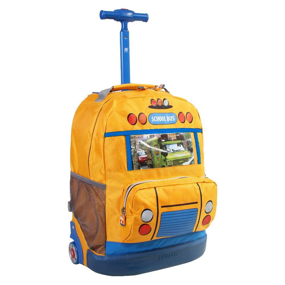 Best Review J World 18 School Bus Rolling Backpack Yellow