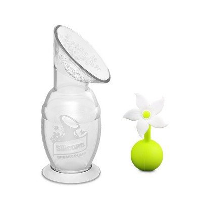 Haakaa Breast Pump with Suction Base and White Flower Stopper - 5oz