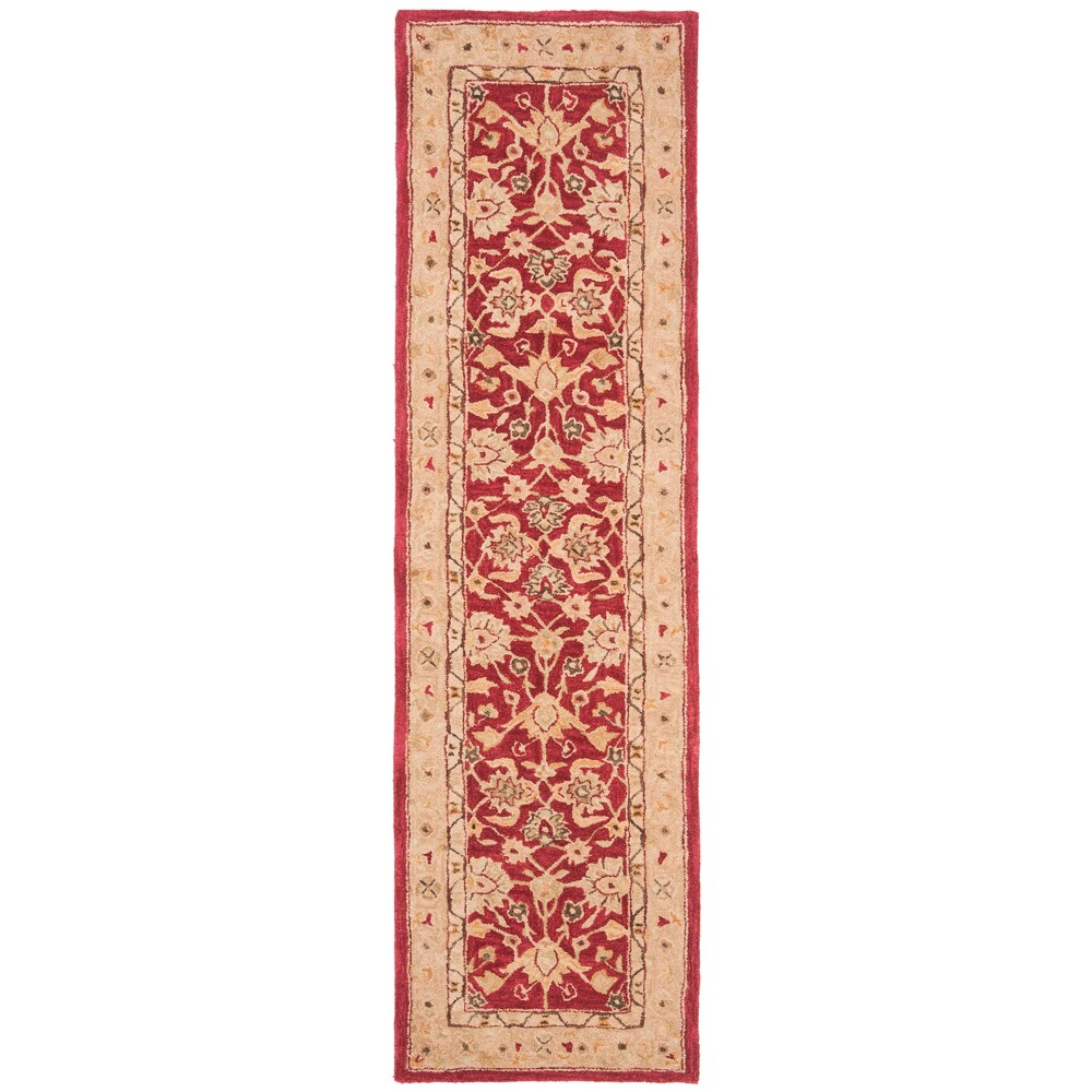 2'3X14' Tufted Floral Runner Rug Red/Ivory - Safavieh