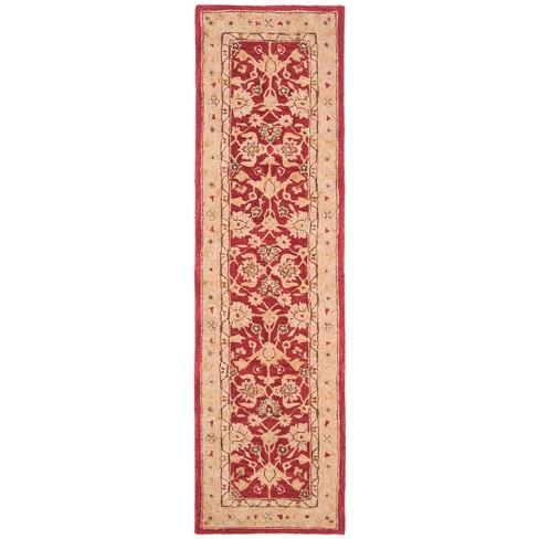 2 3 X10 Tufted Floral Runner Rug Red Ivory Safavieh Target