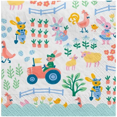 30ct Lunch Easter Napkins Farm Scene - Spritz™