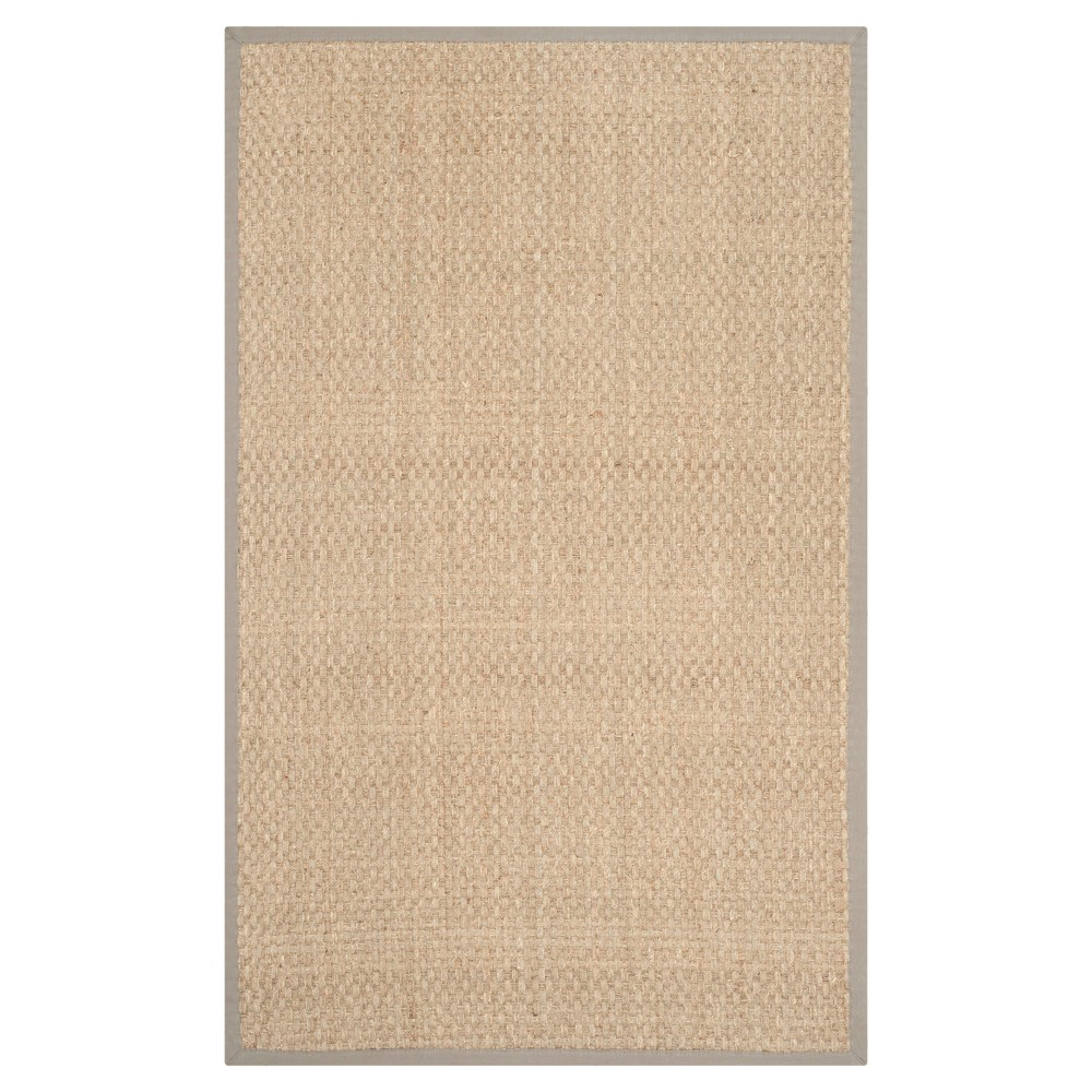 2 X3 Basket Weave Accent Rug Natural Gray Safavieh