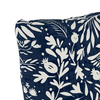 Navy Bird Print Throw Pillow - Skyline Furniture : Target