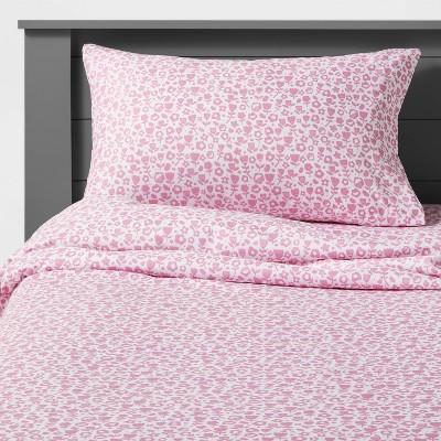 Cut Paper Floral Microfiber Sheet Set Pink - Pillowfort™
