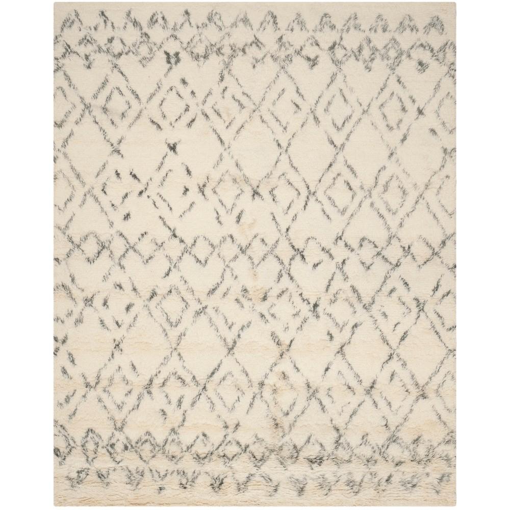 11 X15 Geometric Tufted Area Rug Ivory Gray Safavieh