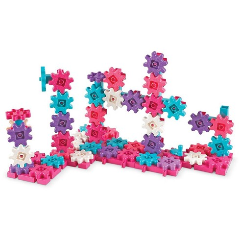 Learning Resources Gears! Gears! Gears! Deluxe Building Set, 100 Pieces, Pink - image 1 of 4