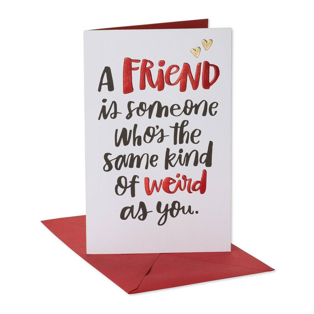 Funny Weird Card for Friend with Foil, Multi-Colored