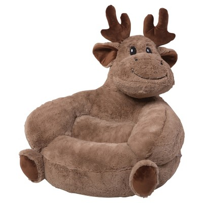 Amazing Kids Plush Moose Character Chair   Brown   Trend Lab