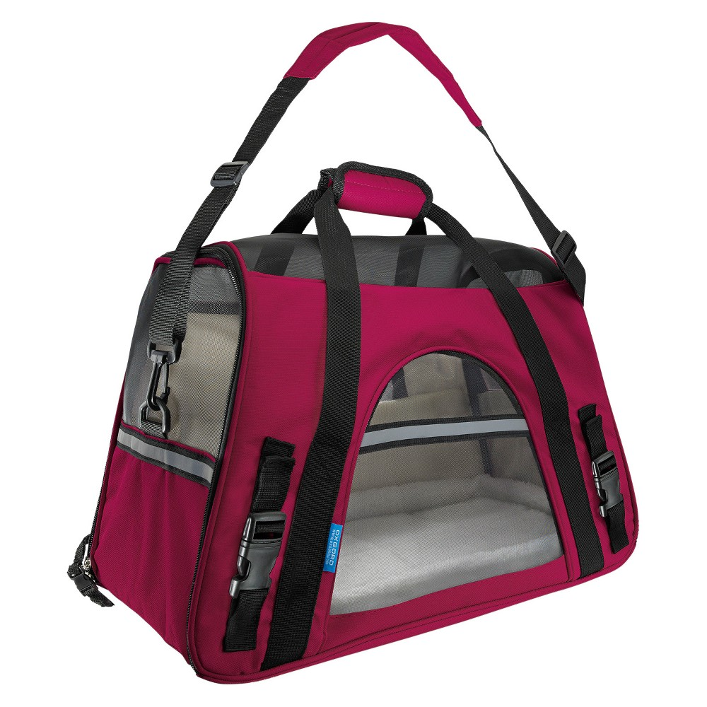 Paws & Pals Soft-Sided Pet Carrier - Dark Pink - Large
