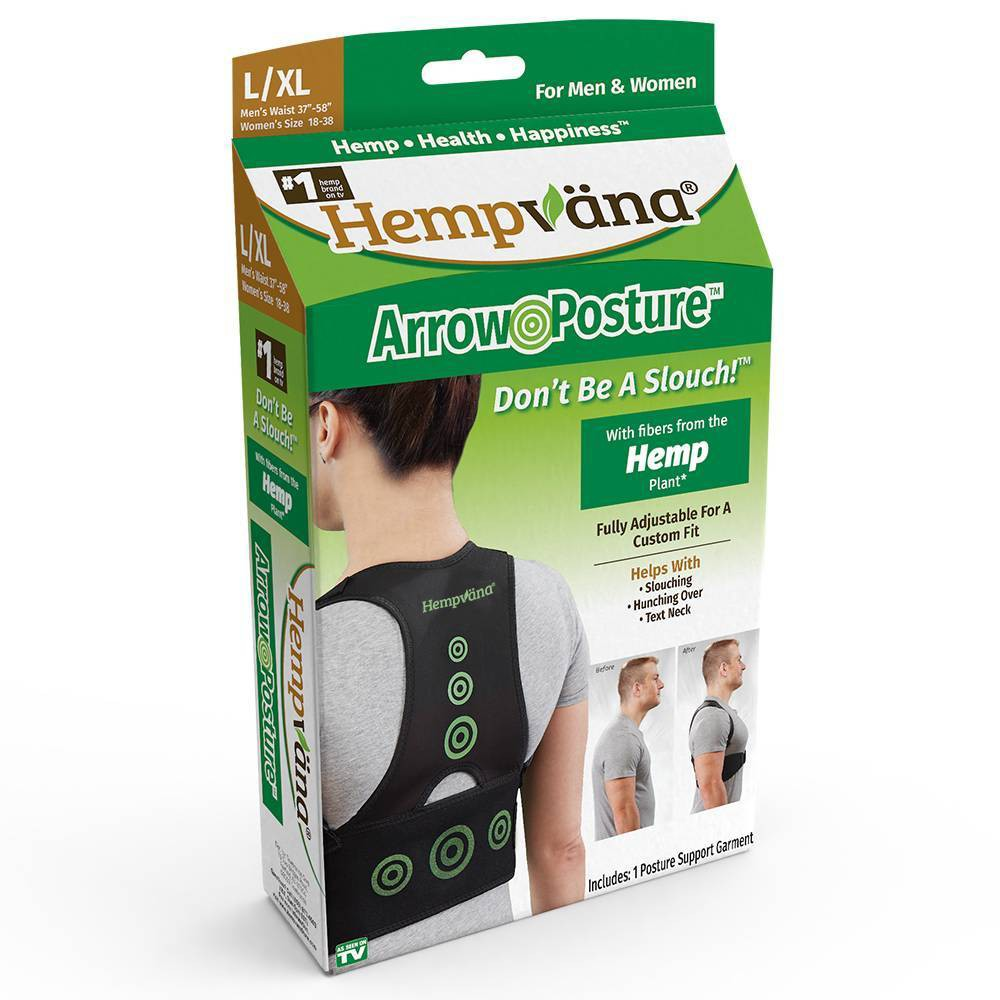 Image of As Seen on TV Hempvana Posture Support L/XL