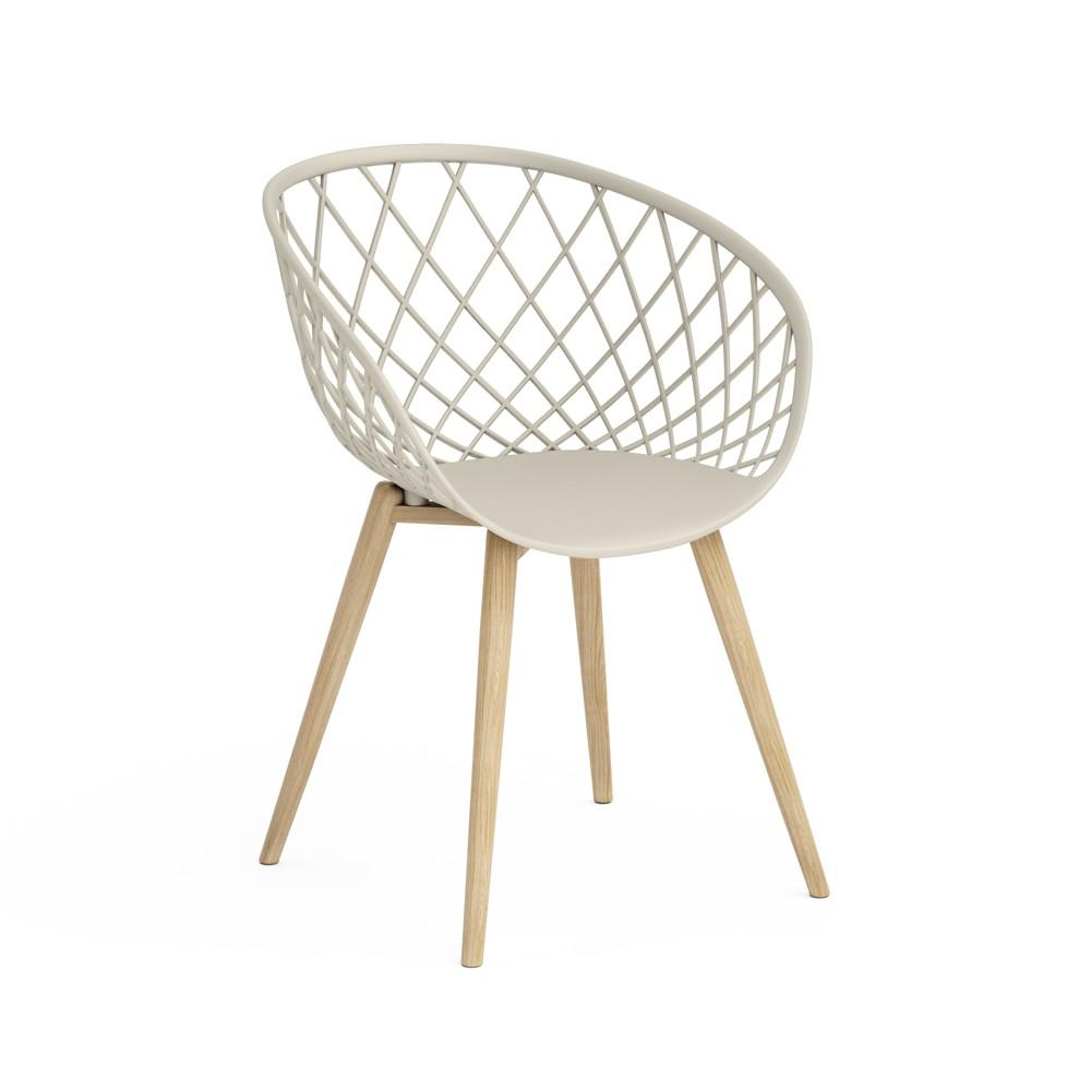 Kurv Set of 2 Chair Tapestry Buff Beige - Jamesdar