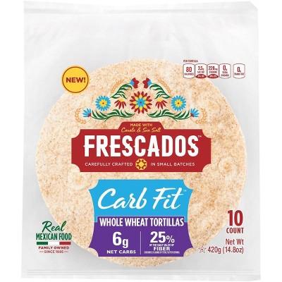 Frescado Carb Fit Wheat Tortillas - 10ct/14.8oz