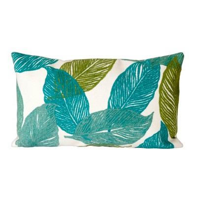 Blue Mystic Leaf Throw Pillow (12 x20 )- Liora Manne
