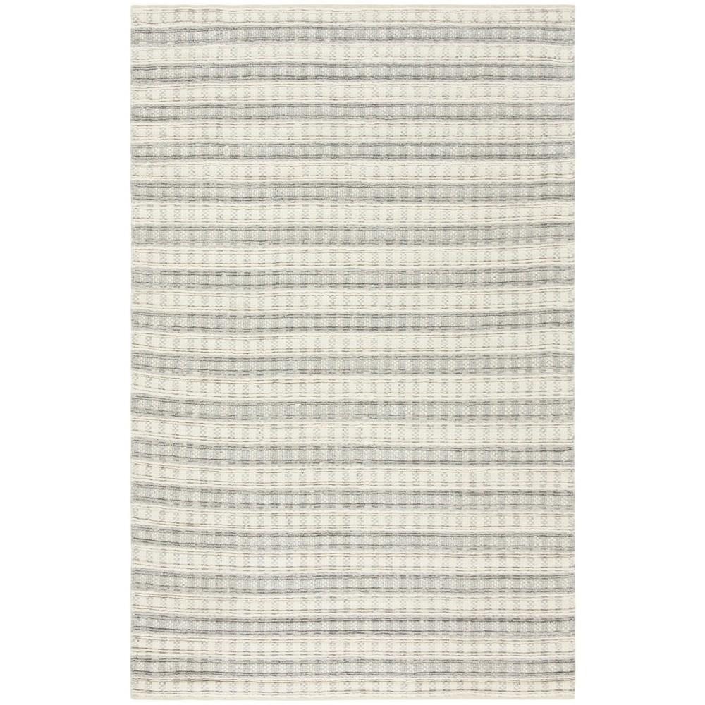 5'X8' Woven Stripe Area Rug Gray - Safavieh