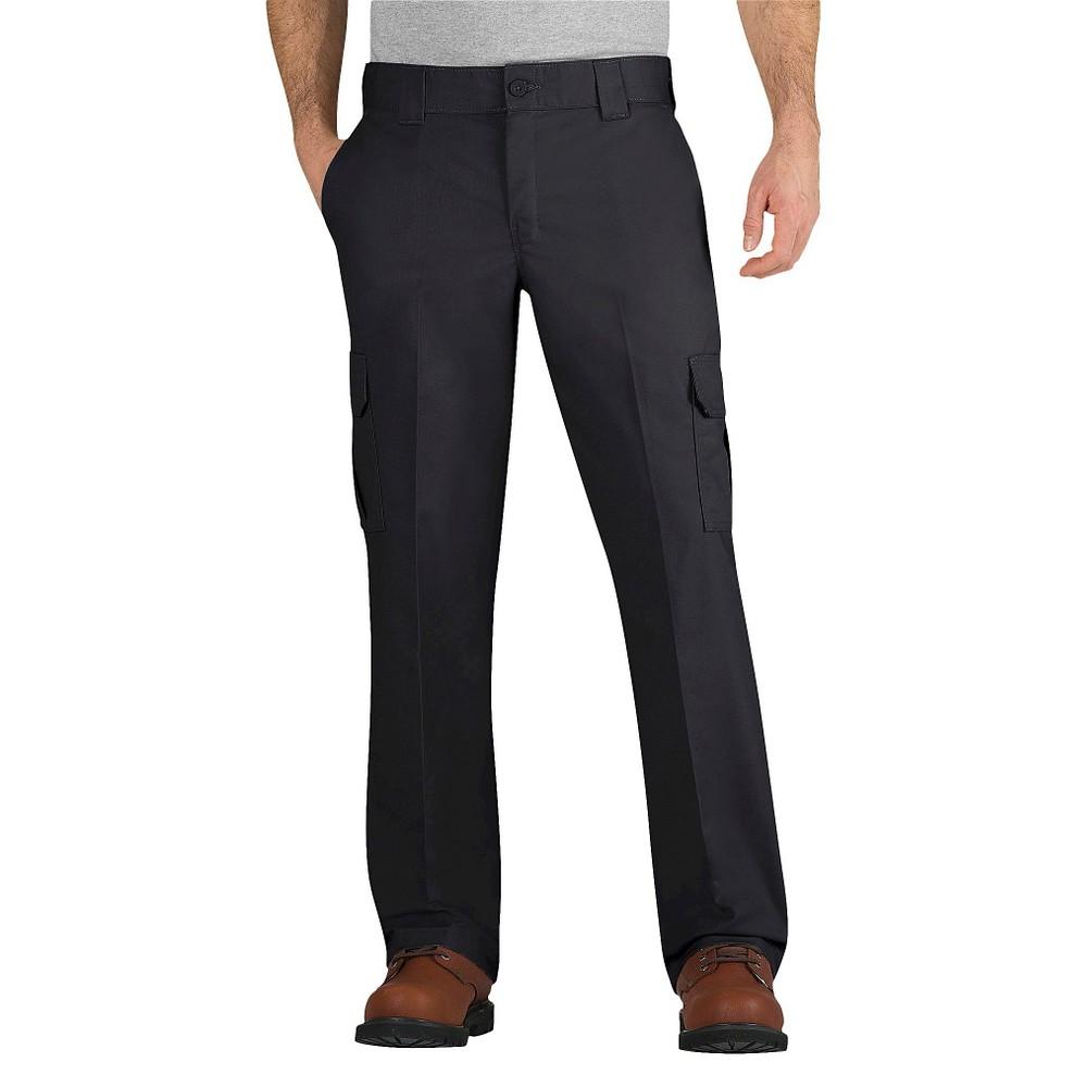 Dickies Men's Regular Straight Fit Flex Twill Cargo Pants- Black 42x30