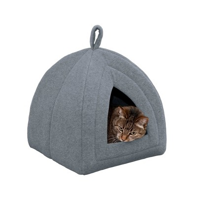 FurHaven Fleece Pet Tent Cat Bed