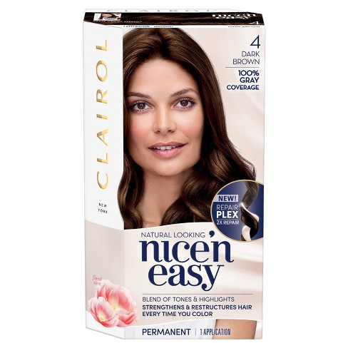 Clairol Nice N Easy Permanent Hair Color 4 Dark Brown 1 Kit Target