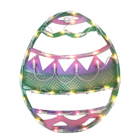 """Northlight 17"""" Lighted Pastel Colored Easter Egg Spring Window Silhouette Decoration - image 1 of 4"""