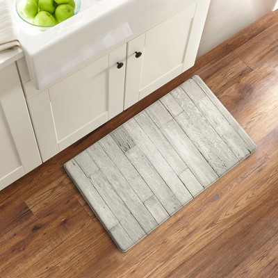 "1'6""x2'6"" Rectangle PVC (Polyvinyl Chloride) Floor Mat Gray - Elrene Home Fashions"