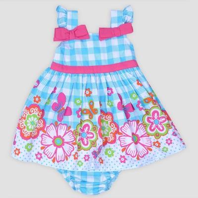 Baby Girls' Gingham Poplin Sundress Nate & Annee™ Turquoise/Pink 6-9M