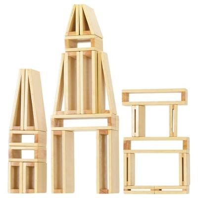 ECR4Kids Large Hollow Wooden Building Block Set for Kids Play