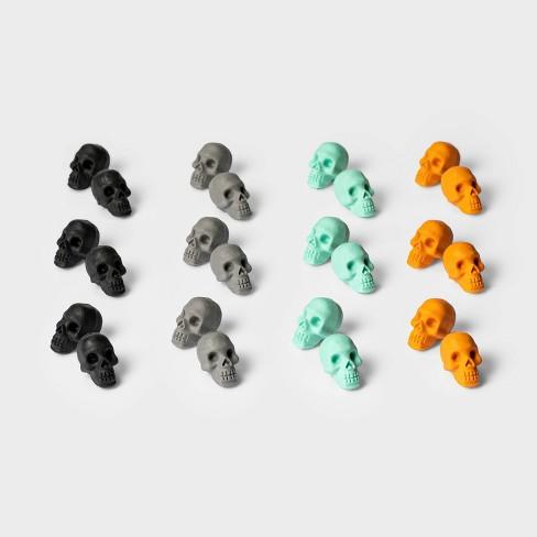 24ct Skull Eraser Halloween Party Favors - Hyde & EEK! Boutique™ - image 1 of 1