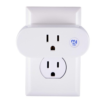 myTouchSmart Indoor Plug In Outlet Wi-Fi Timer White