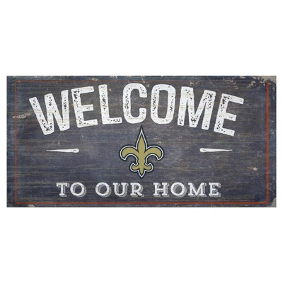 NFL Fan Creations 6 x 12 in. Welcome Distressed Sign