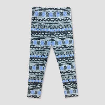 29d2bda8fb746 Girls' Star Wars Chewbacca Printed Leggings - Gray/Blue : Target
