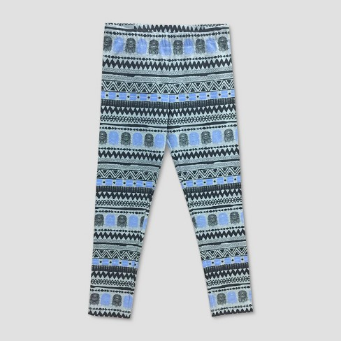 Girls' Star Wars Chewbacca Printed Leggings - Gray/Blue - image 1 of 1