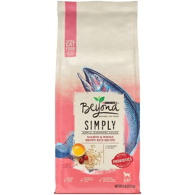 Purina Beyond Simply Salmon & Whole Brown Rice Recipe Adult Premium Dry Cat Food - 6lbs