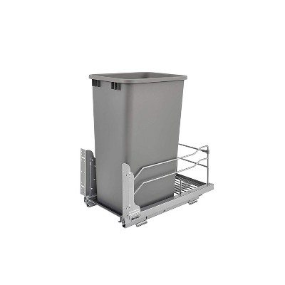 Rev-A-Shelf 53WC-1535SCDM Pullout Waste Container Can w/ Soft Close, Silver