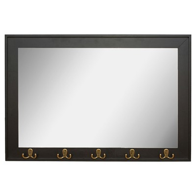 Rectangle Entryway Decorative Wall Mirror with Hooks - Threshold™