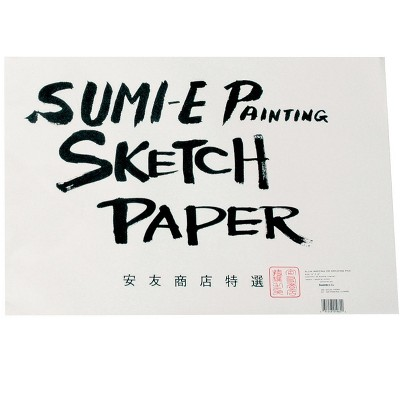 Yasutomo Rice Paper Sketch Pad, 12-1/8 x 18-1/8 Inches, 48 Sheets