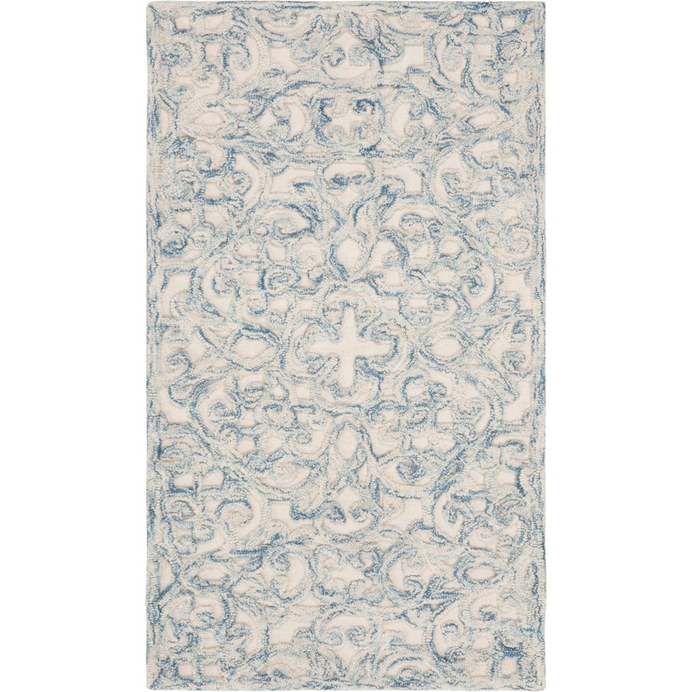 2'3X4' Shapes Tufted Accent Rug Blue/Ivory - Safavieh