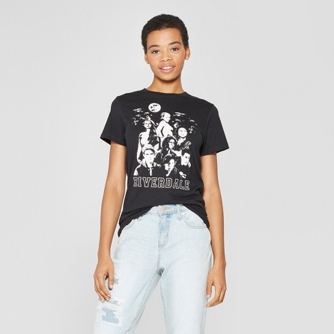 Women's Short Sleeve Riverdale Characters Graphic T-Shirt - Ripple Junction (Juniors') Black - image 1 of 2