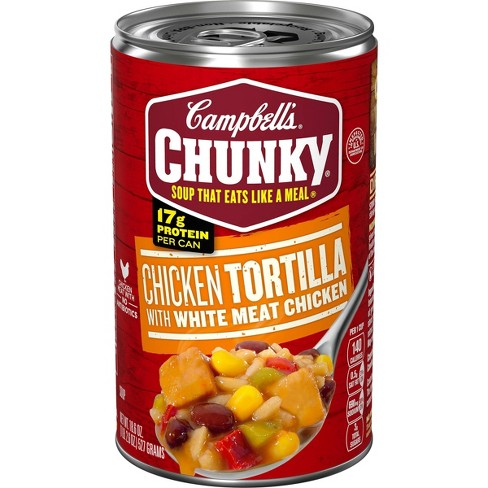 Campbell's Chunky Chicken Tortilla Soup - 18.6oz - image 1 of 4