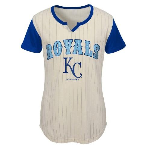 d13b109d5a4 MLB Kansas City Royals Girls  In the Game Cream Pinstripe T-Shirt. Shop all  MLB