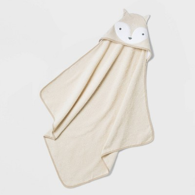 Baby Boys' Fox Hooded Bath Towel Set - Cloud Island™ Brown