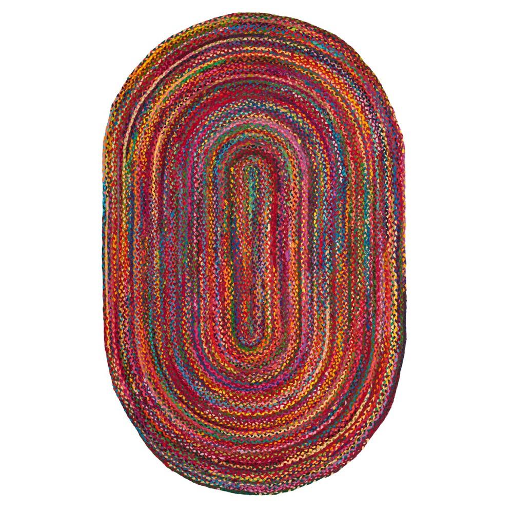 Red Swirl Woven Oval Area Rug 5'X8' - Safavieh, Rednmulti-Colored