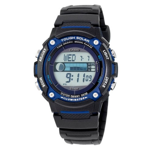 Casio Men's Solar Powered Tide & Moon Graph Watch - Black (WS210H-1AVCF) - image 1 of 3