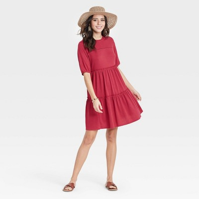 Women's Short Sleeve Babydoll Dress - Knox Rose™