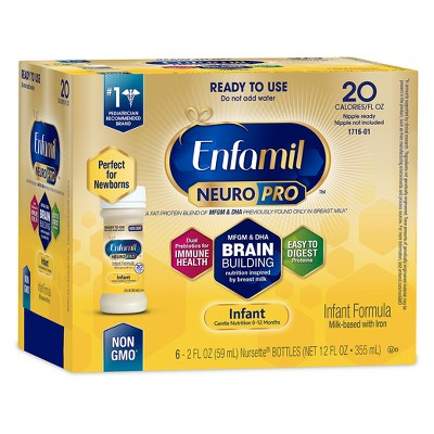 Enfamil NeuroPro Infant Formula Ready to Use - 6 (2 fl oz)Bottles