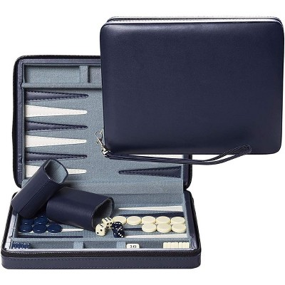 WE Games Magnetic Backgammon Set with Leatherette Case and Carrying Strap - Travel Size