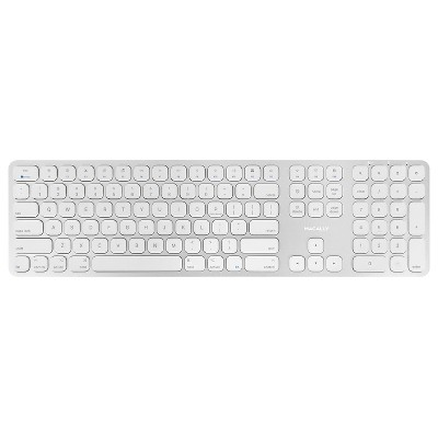 Macally Wireless Bluetooth Rechargeable Aluminum Full Keyboard