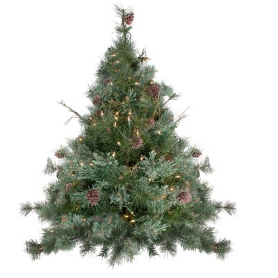 Northlight 3' Prelit Artificial Christmas Tree Country Mixed Pine - Clear Lights