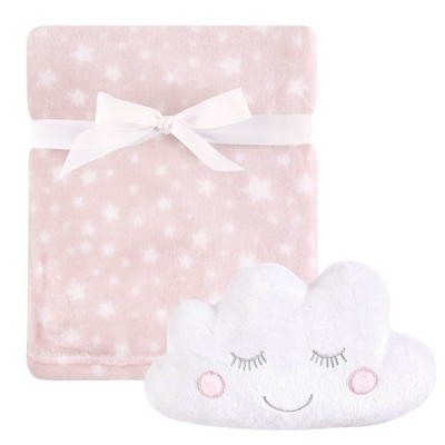 Hudson Baby Unisex Baby Plush Blanket with Toy - Pink Cloud One Size