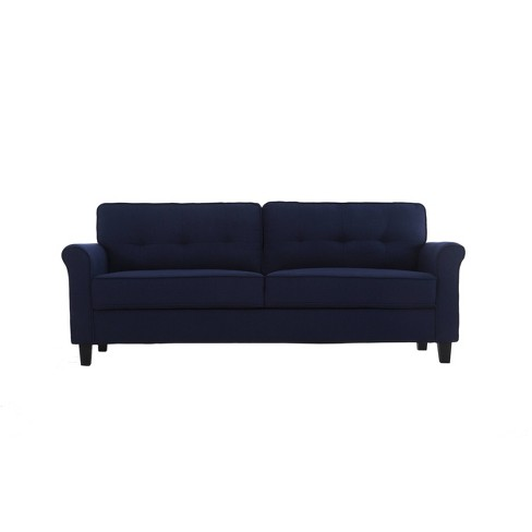 Hayward Microfiber Sofa Navy Blue , - Lifestyle Solutions