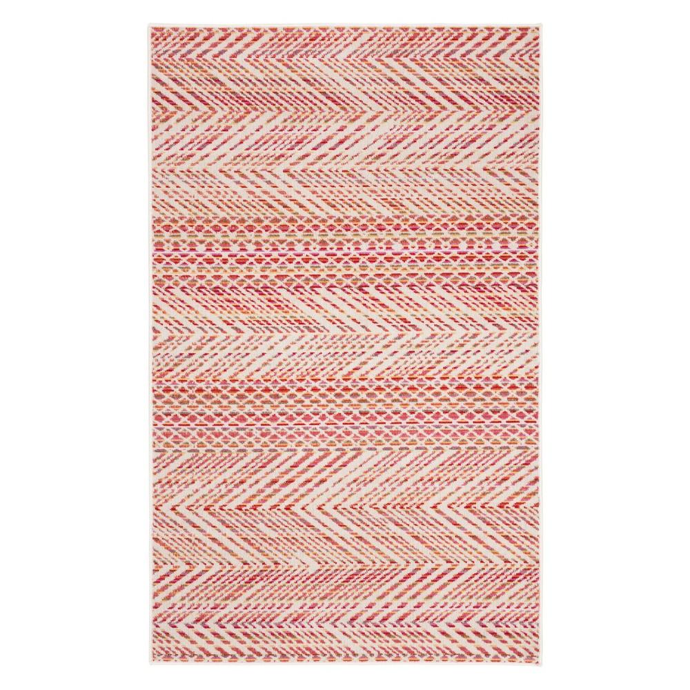 4'X6' Geometric Loomed Area Rug Pink - Safavieh