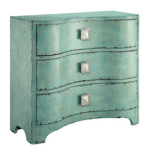 Port Crackle Bombe Chest - Blue - image 1 of 5